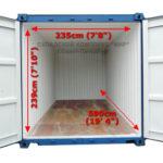 Размер 20 футового контейнера