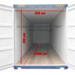 Размер 40 футового контейнера